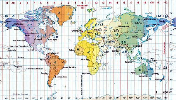 Weltzeit - World Time Zones